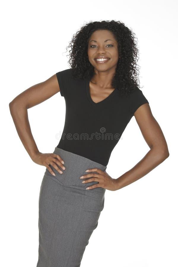 Afroamerikaner-Frau lizenzfreie stockfotografie