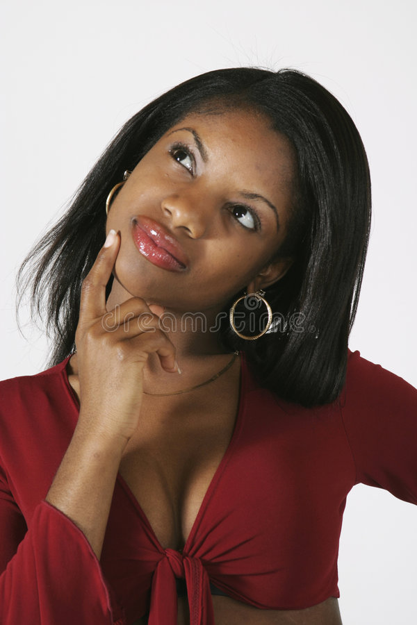 Afroamerikaner-Frau lizenzfreie stockbilder