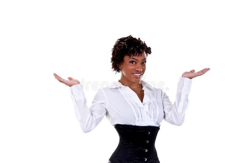 Afroamerikaner-Geschäftsfrau stockbild