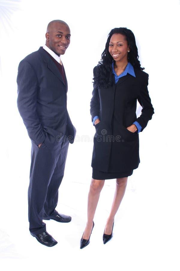 Afroamerikaner-Geschäftsleute stockbild