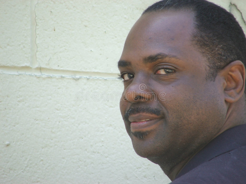 Afroamerikaner-Geschäftsmann stockfoto