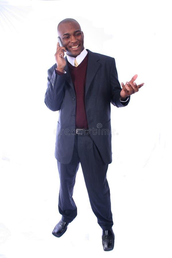 Afroamerikaner-Geschäftsmann lizenzfreie stockfotografie
