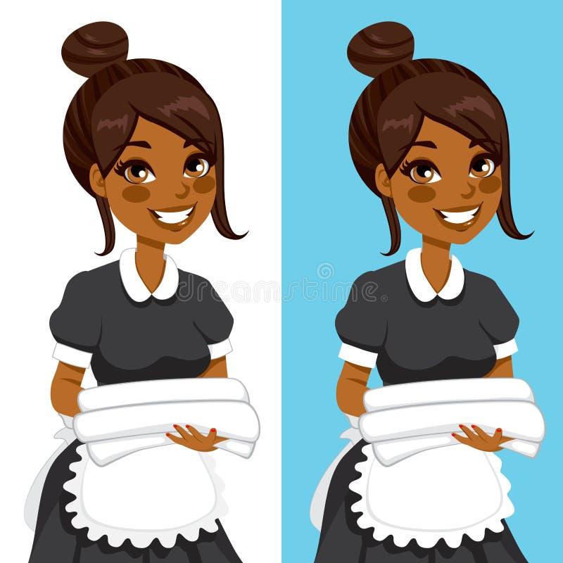 Afroamerikaner-Haushaltungs-Frau lizenzfreie abbildung