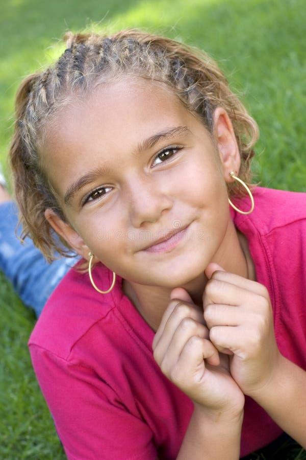 Afroamerikaner-Mädchen stockfoto