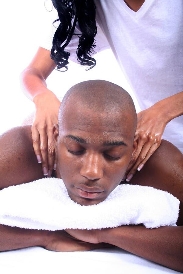 Afroamerikaner-Paare am Badekurort stockbild