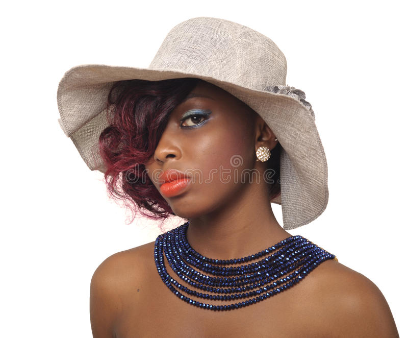 Afroamerikaner-Schönheits-Frau stockfoto