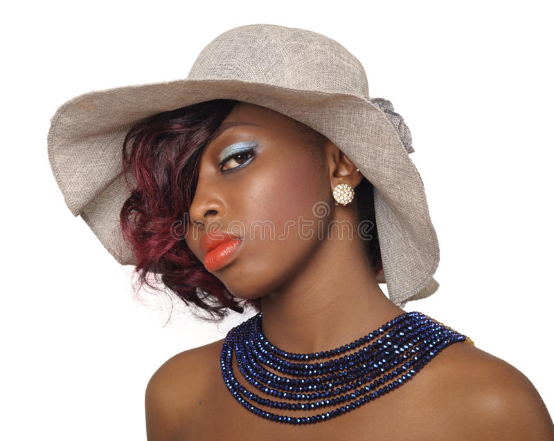 Afroamerikaner-Schönheits-Frau lizenzfreies stockbild