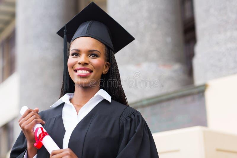 Afroamerikanerabsolvent lizenzfreie stockfotos