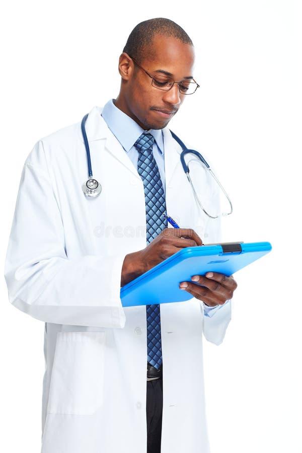 Afroamerikanerdoktor-Schreibensverordnung stockbild