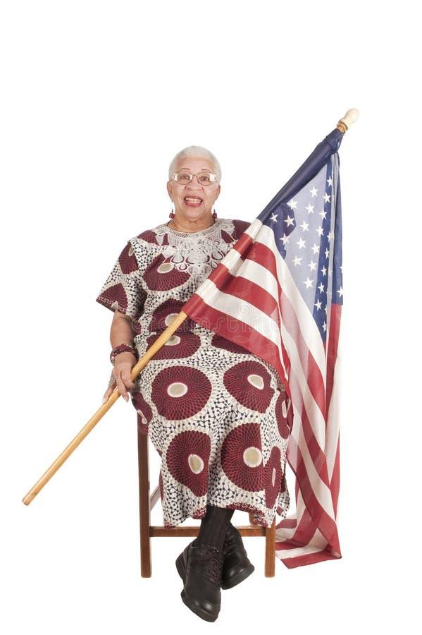 Afroamerikanerfrau stockfoto