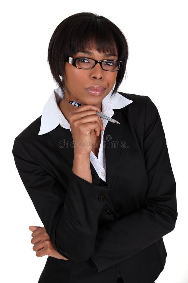 Afroamerikanergeschäftsfrau. lizenzfreie stockfotos