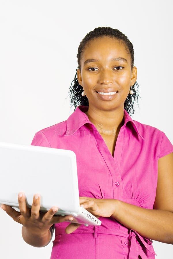 Afroamerikanergeschäftsfrau lizenzfreie stockfotografie