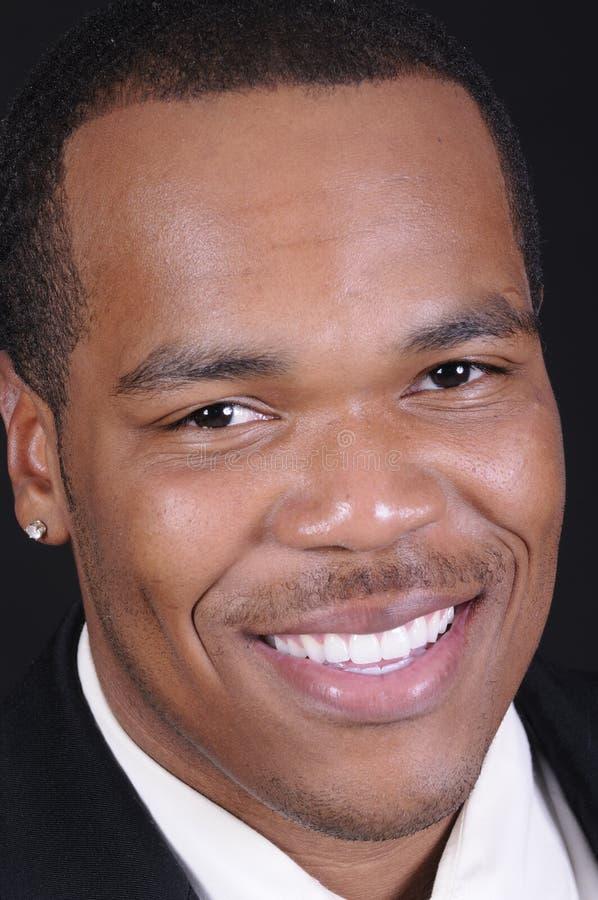 Afroamerikanergeschäftsmann stockfoto