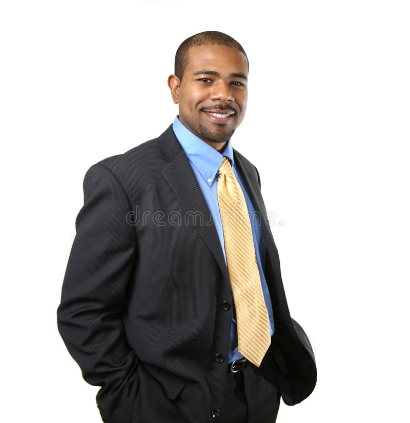 Afroamerikanergeschäftsmann stockfotografie