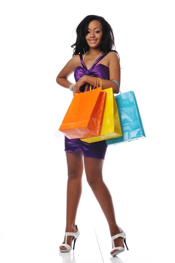 Afroamerikanerkäufer stockfotos