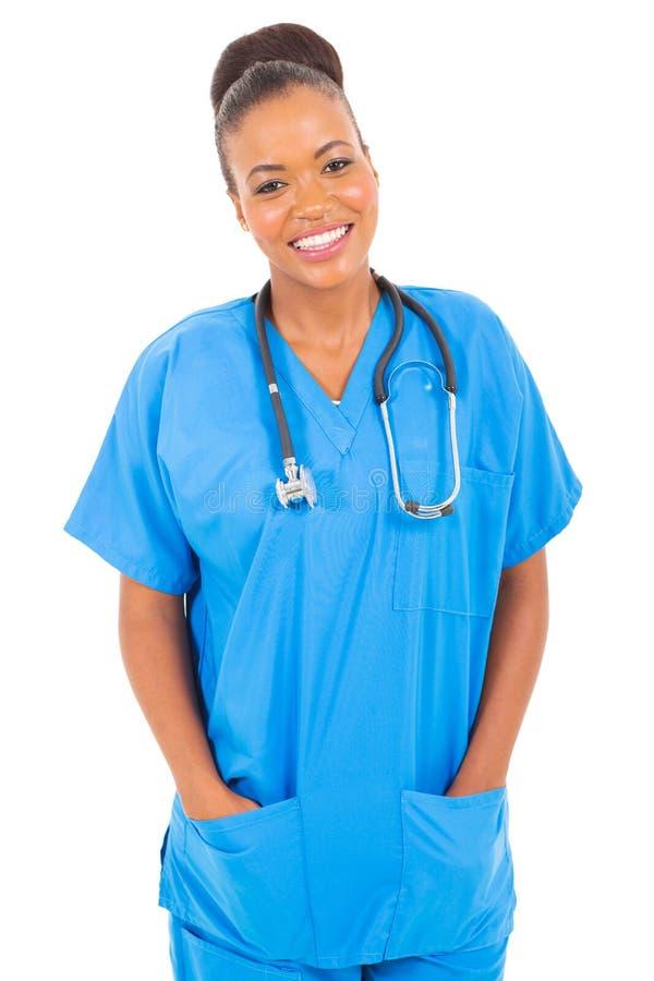 Afroamerikanerkrankenschwester stockbild
