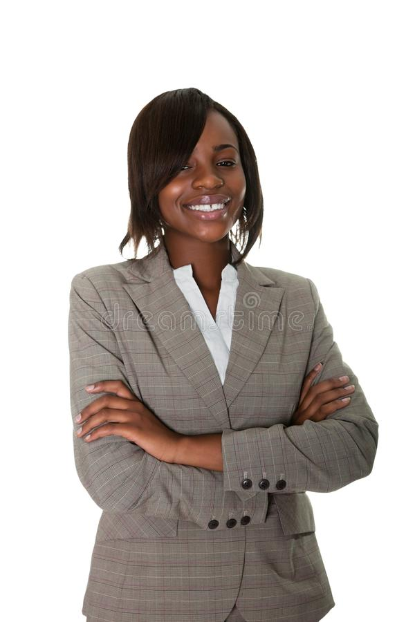 Afroamerikanerleitprogramm auf weißem Hintergrund lizenzfreie stockfotografie