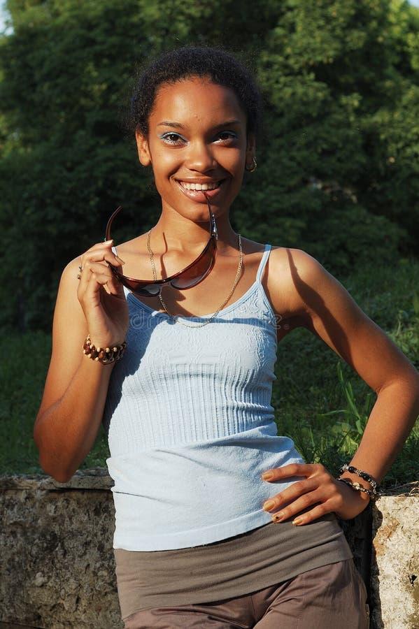 Afroamerikanermädchen lizenzfreies stockfoto