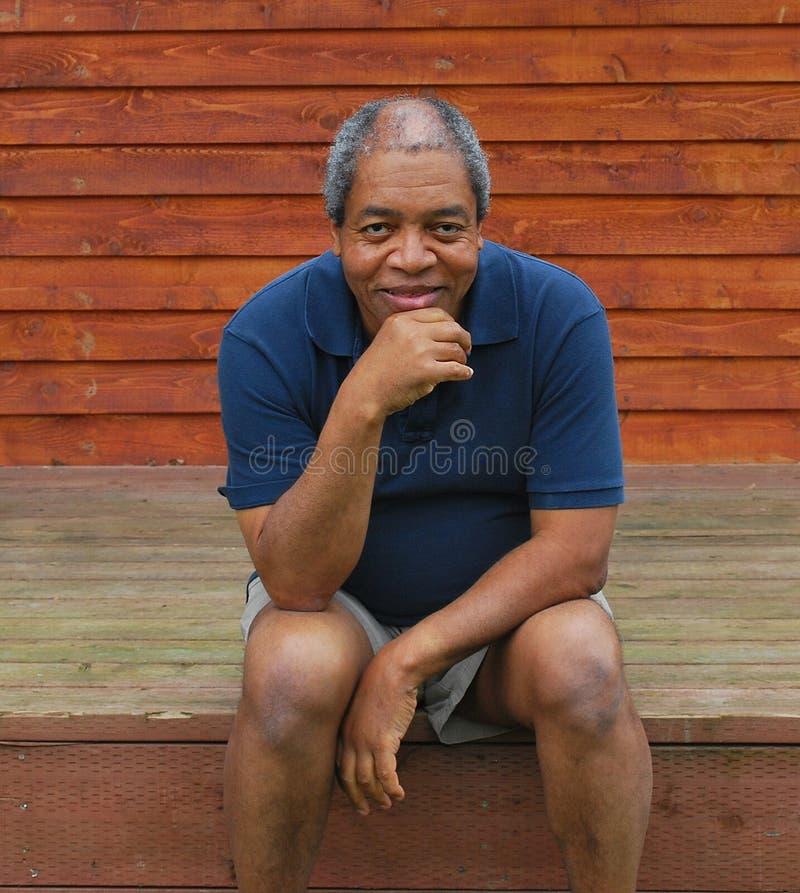 Afroamerikanermann. stockfoto