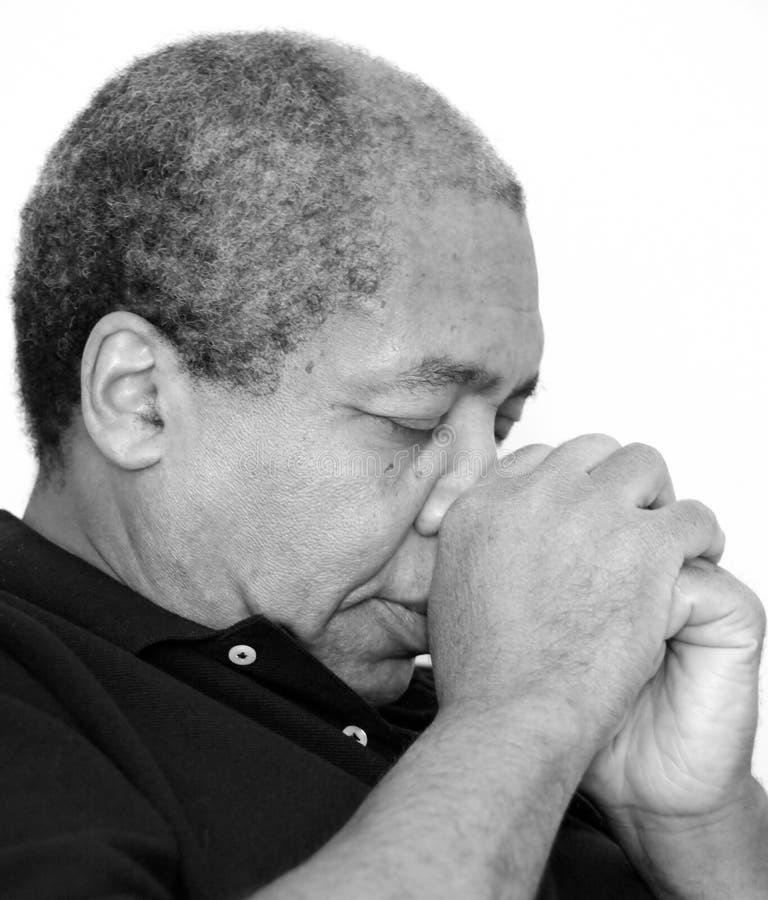 Afroamerikanermanneskrise lizenzfreie stockfotos