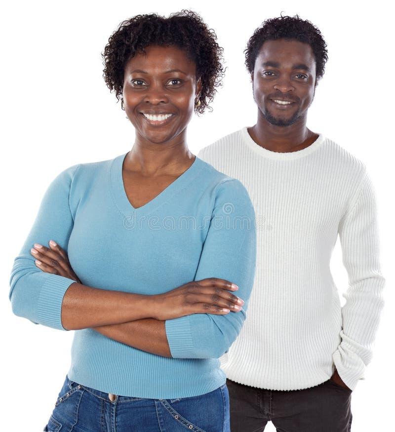 Afroamerikanerpaare stockbilder