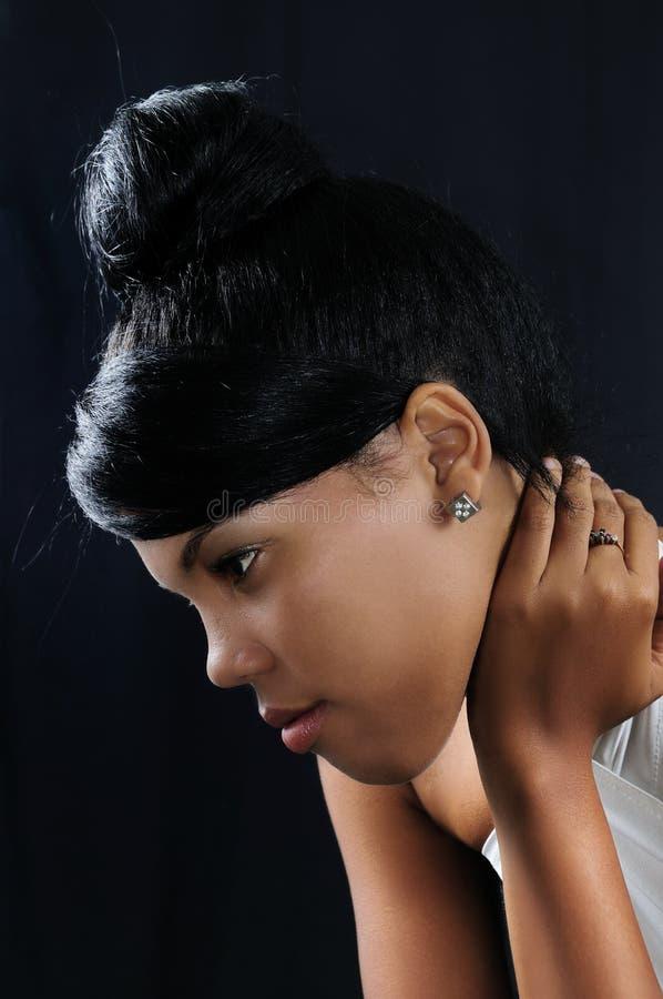 Afroamerikanerschönheit lizenzfreie stockfotografie