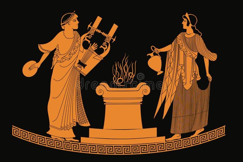 Afrodite da deusa do grego clássico ilustração stock