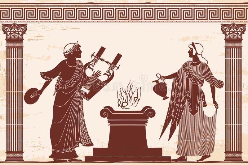 Afrodite da deusa do grego clássico ilustração royalty free