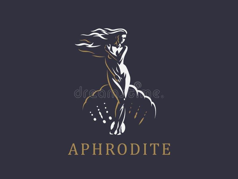 Afrodite ou Vênus Emblema do vetor ilustração do vetor
