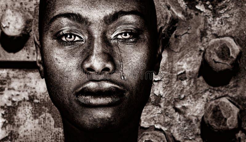 Afroe-amerikanisch Frau stockfotografie