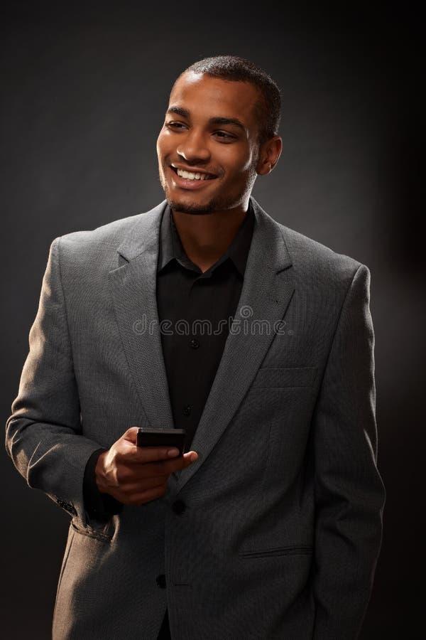 Afroer-amerikanisch Geschäftsmann lizenzfreie stockfotos