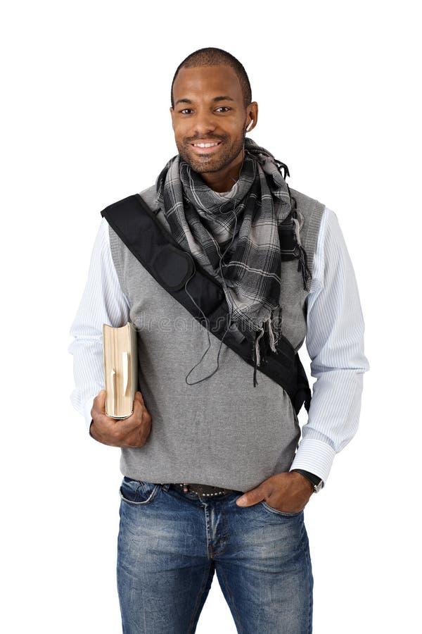 Afroer-amerikanisch Hochschulstudent lizenzfreie stockfotos