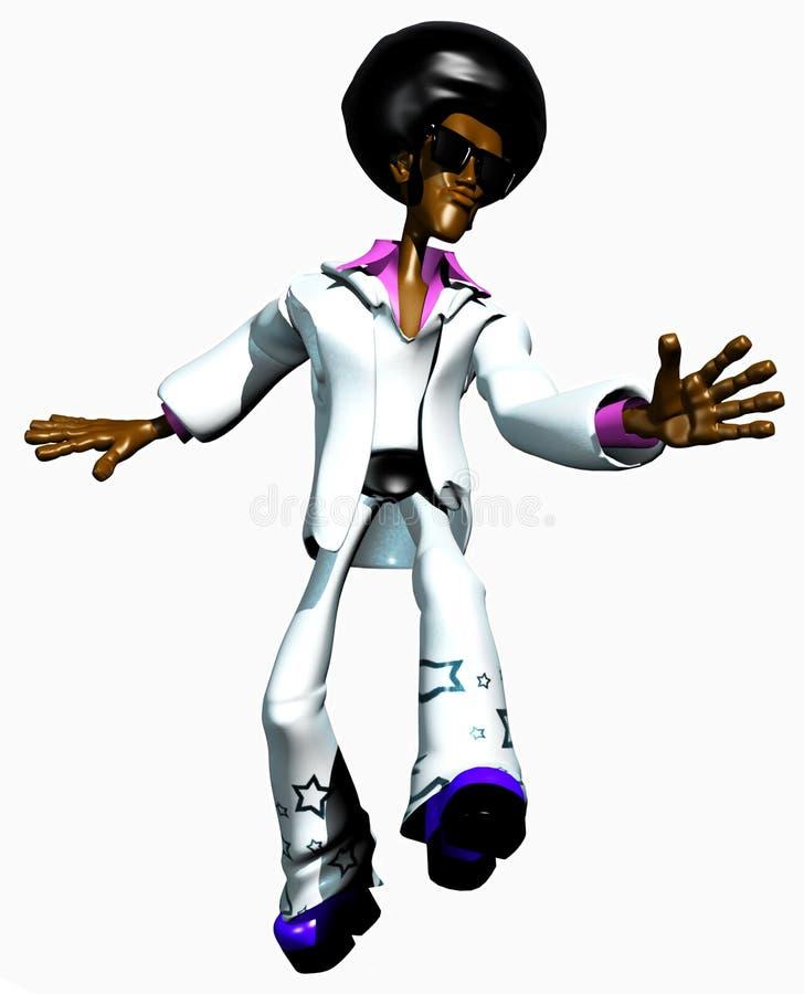 afroman taniec royalty ilustracja