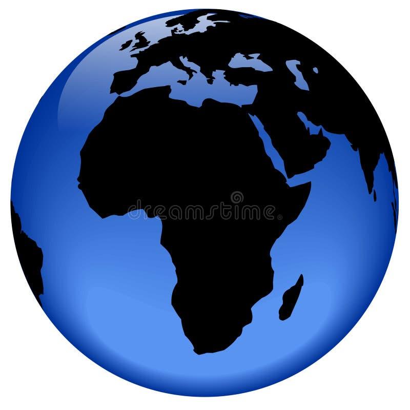afryce globe widok ilustracji