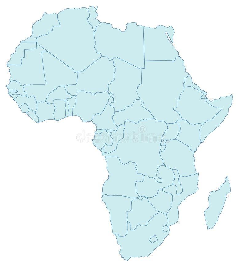 afryce mapa ilustracja wektor