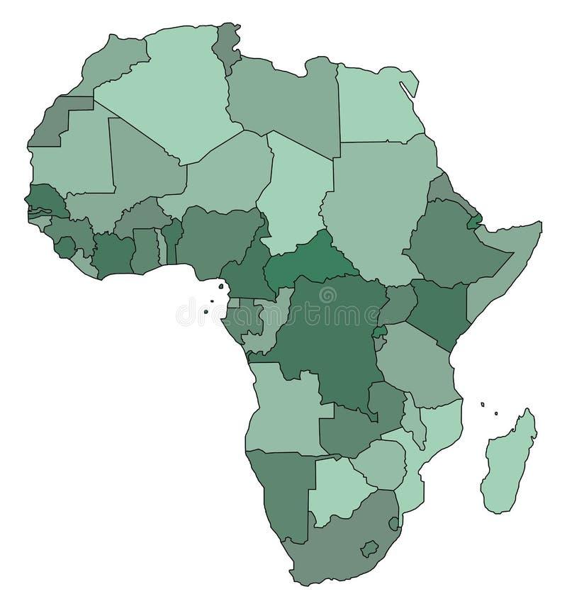 afryce mapa royalty ilustracja