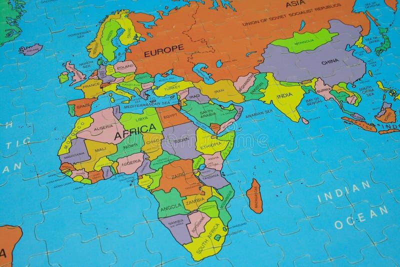 afryce mapy układanki zdjęcie stock
