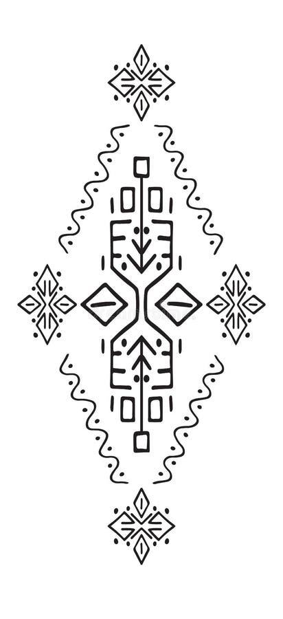 Afrykańska Etniczna Stylowa Wektorowa ilustracja ilustracji