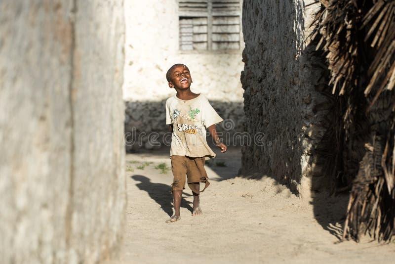 Afrykańscy dzieci w Zanzibar wyspie zdjęcie royalty free