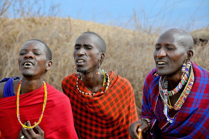 Afrykańscy ludzie od Masai plemienia fotografia royalty free