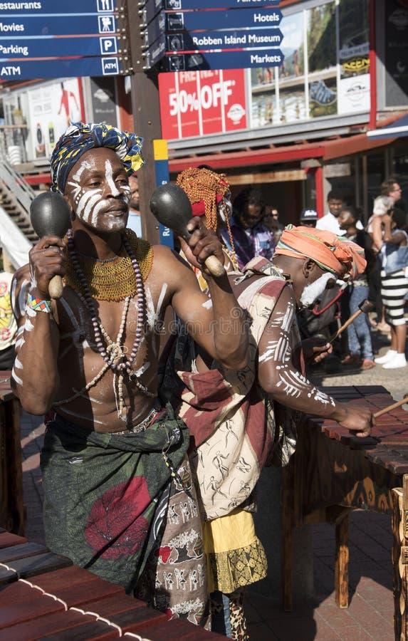 Afrykańscy muzycy w Kapsztad Południowa Afryka zdjęcie royalty free