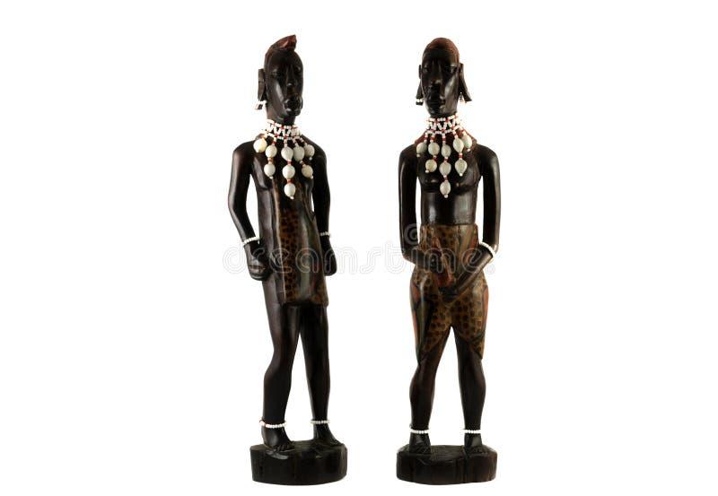 Afrykańscy posążki obraz stock