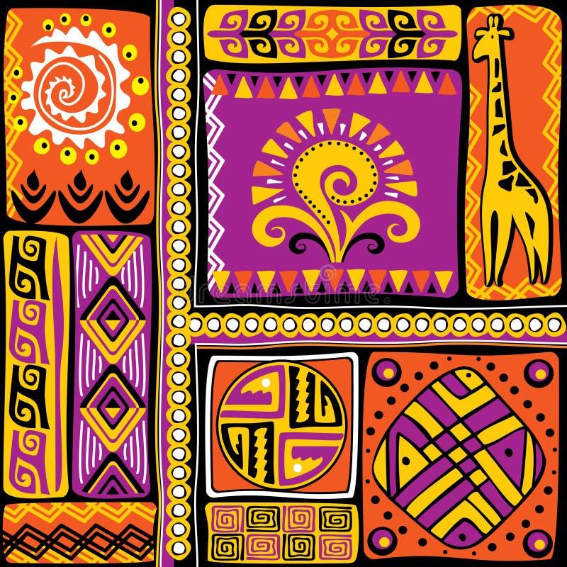 Afrykańscy projektów elementy ilustracja wektor