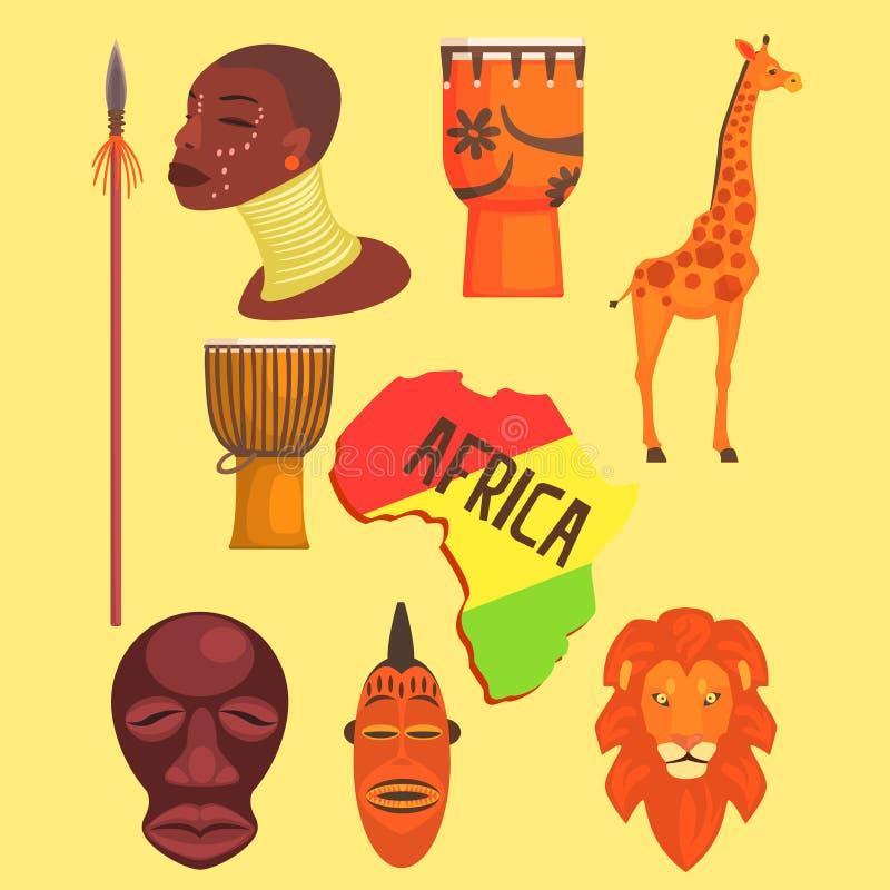 Afrykańscy symbole ustawiający ilustracji