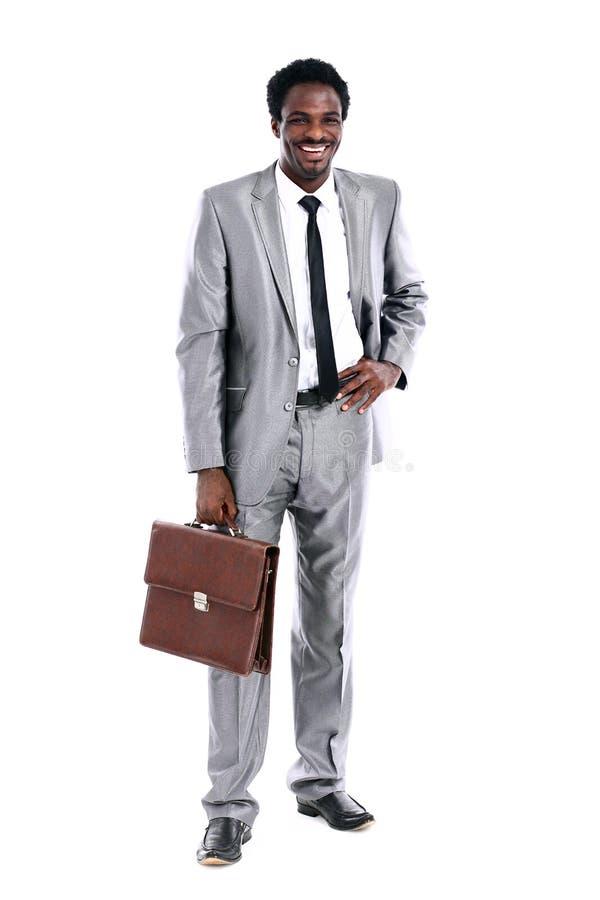 afrykańscy teczki biznesmena potomstwa obraz royalty free