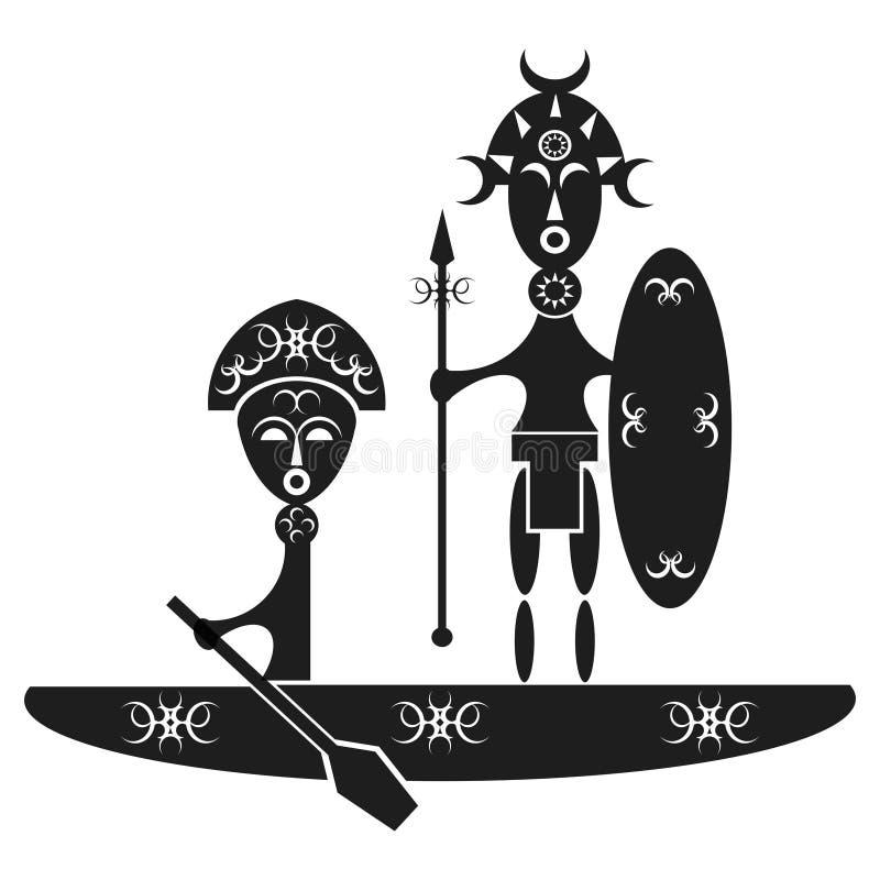 afrykańscy wojownicy ilustracji