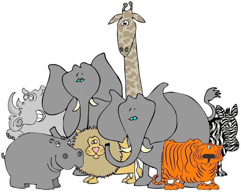 Download Afrykańscy zwierzęta ilustracji. Ilustracja złożonej z zebra - 13335168