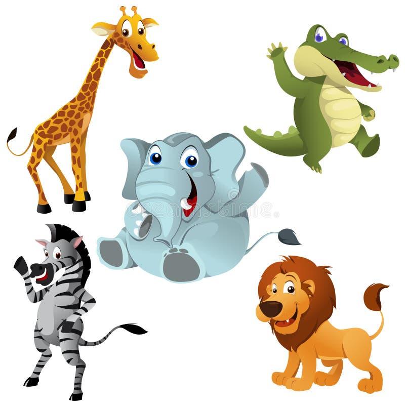 Afrykańscy zwierzęta royalty ilustracja