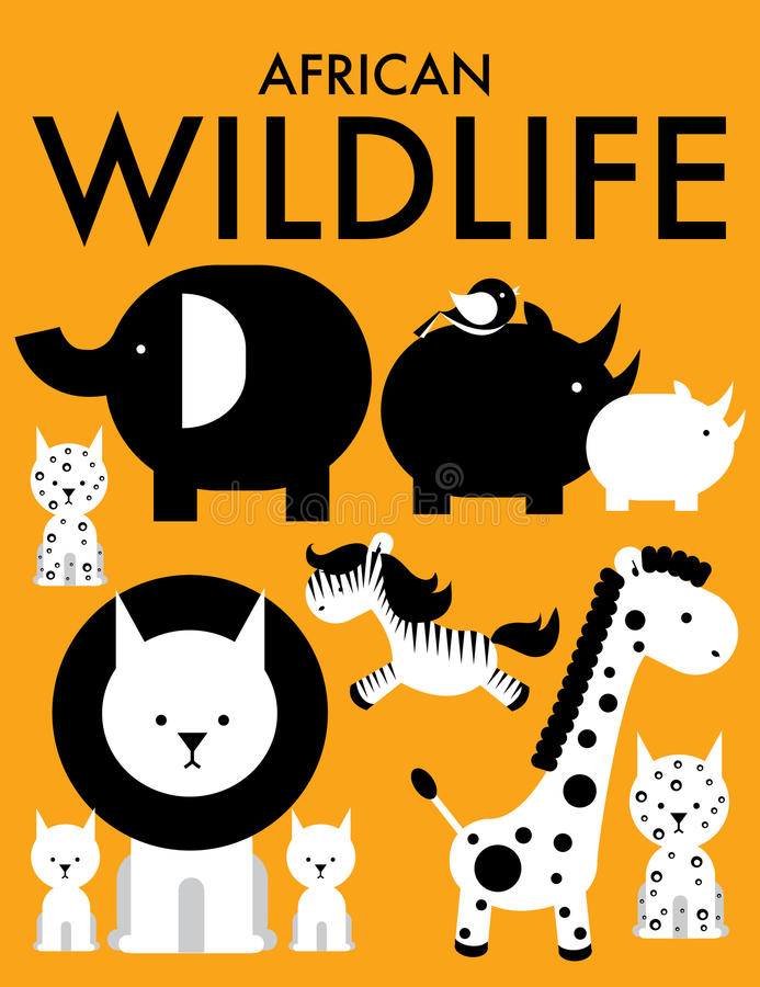 Afrykańscy zwierzęta /illustration