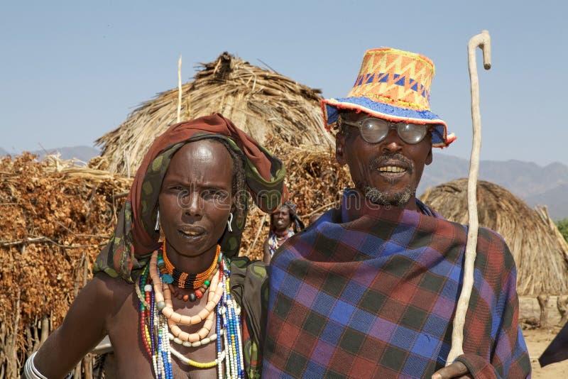 Afrykańska żona i mąż fotografia royalty free